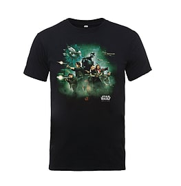 Star Wars T Shirt Rogue One Movie Poster Distressed Official Kids New Black Size: Large 9-10yrs Clothing