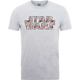 Star Wars T Shirt Rogue One Goodies Pattern Movie Logo Official Kids New Grey Size: Medium 7-8yrs Clothing