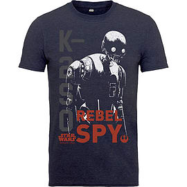 Star Wars T Shirt Rogue One K2S0 Rebel Spy Distressed Official Kids New Navy Size: Small 5-6yrs Clothing