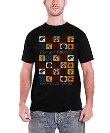 Game Of Thrones T Shirt House Squares stark lannister new Official Mens Black Size: Small Clothing