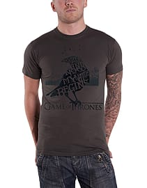 Game Of Thrones T Shirt Night Gathers nights watch new Official Mens grey Size: Medium Clothing