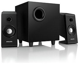 Philips SPA2335/05 2.5 Speakers - BLACK - Brand New Condition Audio