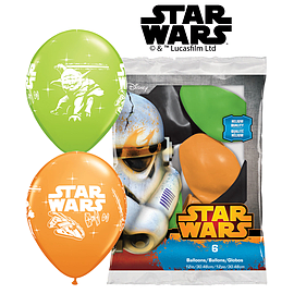 6 x 12 Star Wars Latex Balloons Non Message Qualatex Birthday Party Decoration Party Supplies