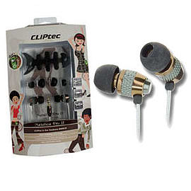 CLiPtec Metalica Pro II BME929 In-Ear Headphones with cable wrap - Bronze Audio