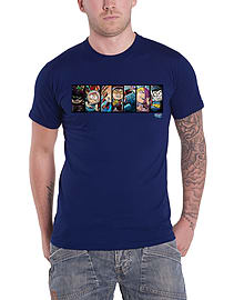South Park Fractured But Whole T Shirt Distressed Poster Official Mens Blue Size: Medium Clothing