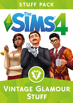 The Sims 4 - Vintage Glamour Stuff Pack PC Downloads Cover Art