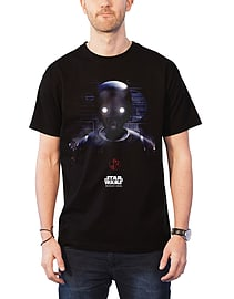 Star Wars T Shirt Rogue One K-2SO Prime Force 01 new Official Mens Black Size: XL Clothing