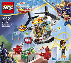 Lego DC Super Hero Girls Bumblebees Helicopter 41234 Blocks and Bricks
