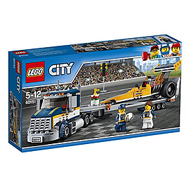 Lego City Great Vehicles Dragster Transporter 60151 Blocks and Bricks