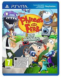 Playstation VITA Phineas & Ferb Day of Doofensmirtz (Czech Import) PS Vita Cover Art