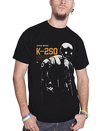 Star Wars Rogue One T Shirt K-2SO new Official Mens Black Size: Small SMALL