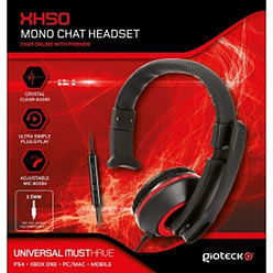 Gioteck XH50 Wired Mono Gaming Headset Red (PS4/XBOX One/PC) PS4