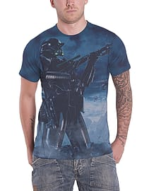 Star Wars Rogue One T Shirt Death Pose Official Mens slim fit sub dye Size: Small Clothing
