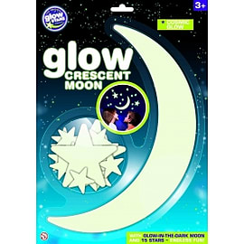 The Original Glowstars Company Glow Crescent Moon Traditional Games
