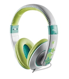 Trust Sonin Kids Headphone, Hearing Protection for Kids - Grey/Green Audio