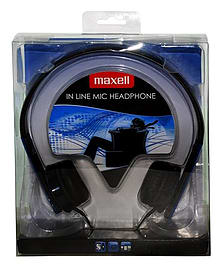 Maxell Overheads In-Line Mic Headphones - BLUE - 303569.00.CN Audio