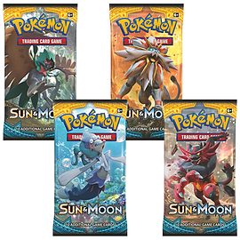 Pokemon: Sun & Moon 4 Sealed Booster Packs - Sun and Moon Trading Cards for 2017 Trading Cards