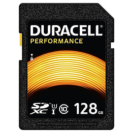 Duracell 128GB Performance SDXC Class 10 UHS-I U1. Rd/80MBs. Memory Card. - DRSD128PE Mobile phones