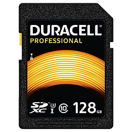 Duracell 128GB Professional SDXC Class 10 UHS-I U3. R/W-95/90MBs. Memory Card. - DRSD128PR Mobile phones