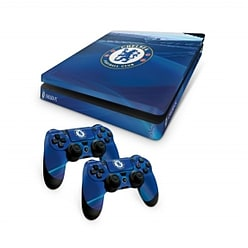 Official Chelsea FC PS4 Slim Console Skin and 2x Controller Skin Combo Pack PS4