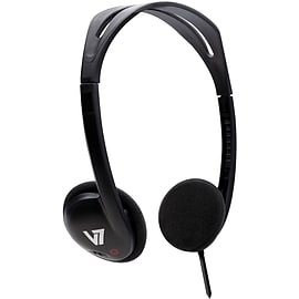 V7 HA300 Wired Stereo Headphone - Over-the-head - Ear-cup - Black Audio
