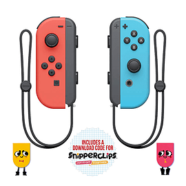 Nintendo Switch Joy-Con Pair Neon Red/ Neon Blue with SnipperClips Nintendo Switch