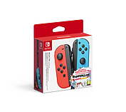 Nintendo Switch Joy-Con Pair Neon Red/ Neon Blue with SnipperClips screen shot 1