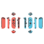 Nintendo Switch Joy-Con Pair Neon Red/ Neon Blue with SnipperClips screen shot 3