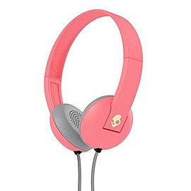 Skullcandy S5URHT-501 Ill-Famed Collection Uproar 2015 On-Ear Headphone with Taptech - Coral/Cream Audio