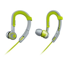 Philips SHQ3300LF Actionfit Sport headphones with adjustable earhook, noice isolation, green/gray Audio