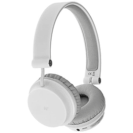 KitSound Metro Wireless On-Ear Bluetooth Headphones for Smartphone and Tablet - White Audio