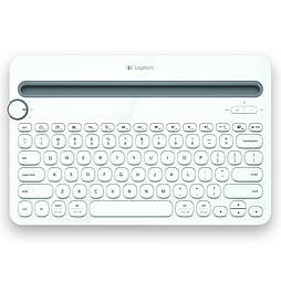 Logitech K480 Keyboard - Wireless Connectivity - White PC