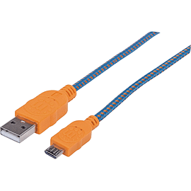 Manhattan 352727 USB Data Transfer Cable for Smartphone, Tablet, Cellular Phone - Shielding Multi Format and Universal
