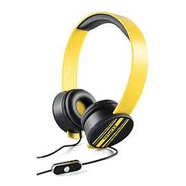 CLiPtec BMH832 URBAN REMIXX Dynamic Stereo Multimedia Headset Yellow for Phones Audio