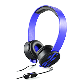 CLiPtec BMH832 URBAN REMIXX Dynamic Stereo Multimedia Headset Blue for Phones Audio