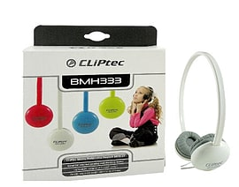 CLiPtec® Cute-Chat Bright Multimedia Headphones - Inline Mic Gaming Chat White Audio