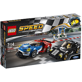 Lego Speed Champions - 2016 Ford GT & 1966 Ford GT40 Blocks and Bricks