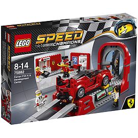 Lego Speed Champions - Ferrari FXX K & Development Center Blocks and Bricks