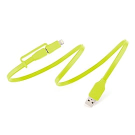 Tylt DUO-REV1MG-T Flyp-Duo Reversible USB Lightning Charge and Sync Cable (100 cm) Compatible with Multi Format and Universal