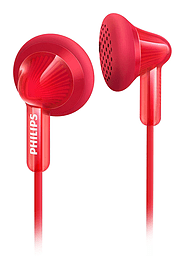 Philips SHE3010RD Extra Bass In-Ear Wired Headphones - Red Multi Format and Universal