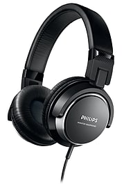 Philips SHL3260BK DJ Style On Ear Wired Over Head Foldable Headphones - Black Multi Format and Universal