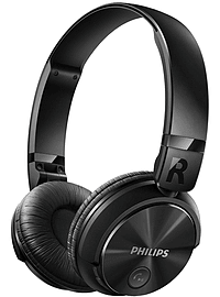Philips SHB3060BK Bluetooth Over Head Wireless Foldable Headphones - Black Multi Format and Universal