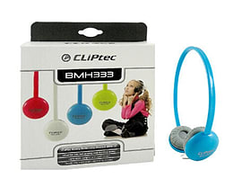 CLiPtec® Cute-Chat Bright Multimedia Headphones - Inline Mic Gaming & Chat Blue Audio