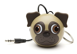 Kitsound Mini Buddy Portable Rechargeable Travel Speaker - Pug Multi Format and Universal
