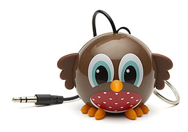 Kitsound Mini Buddy Portable Rechargeable Travel Speaker - Robin Multi Format and Universal