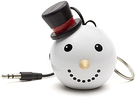 Kitsound Mini Buddy Portable Rechargeable Travel Speaker - Snowman Multi Format and Universal