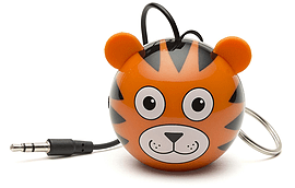 Kitsound Mini Buddy Portable Rechargeable Travel Speaker - Tiger Multi Format and Universal