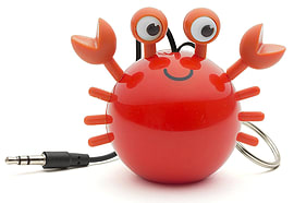 Kitsound Mini Buddy Portable Rechargeable Travel Speaker - Crab Multi Format and Universal