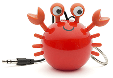Kitsound Mini Buddy Portable Rechargeable Travel Speaker - Crab screen shot 1