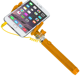 Kitvision Portable Extendable Selfie Stick for Camera's / Smartphones - Orange Multi Format and Universal
